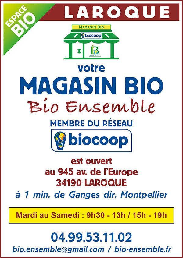 Magasin Bio Ensemble membre du réseau Biocoop